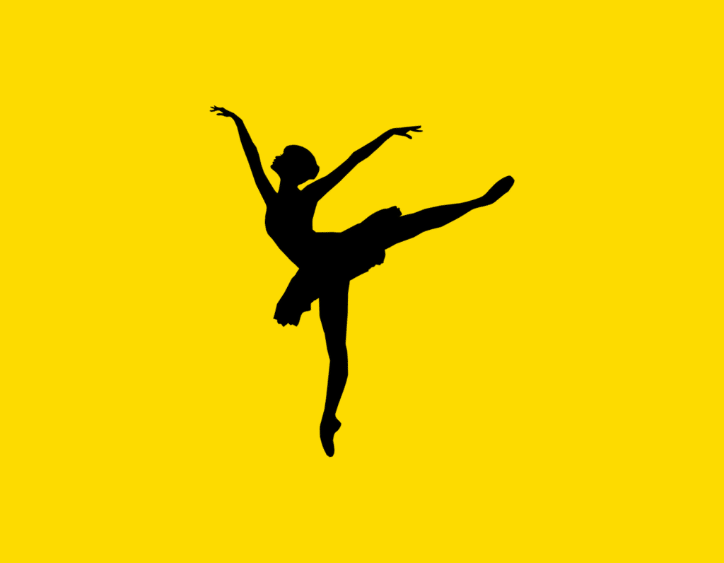 Դօրիանի «Սև կատուն» բանաստեղծությունը։ Black ballerina on a yellow background.