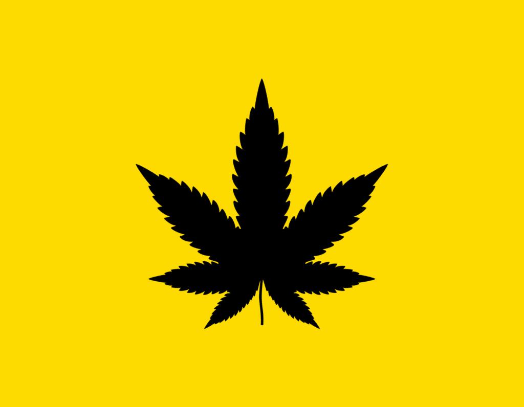 Դօրիանի «Սև կատուն» բանաստեղծությունը։ Black leaf on a yellow background.
