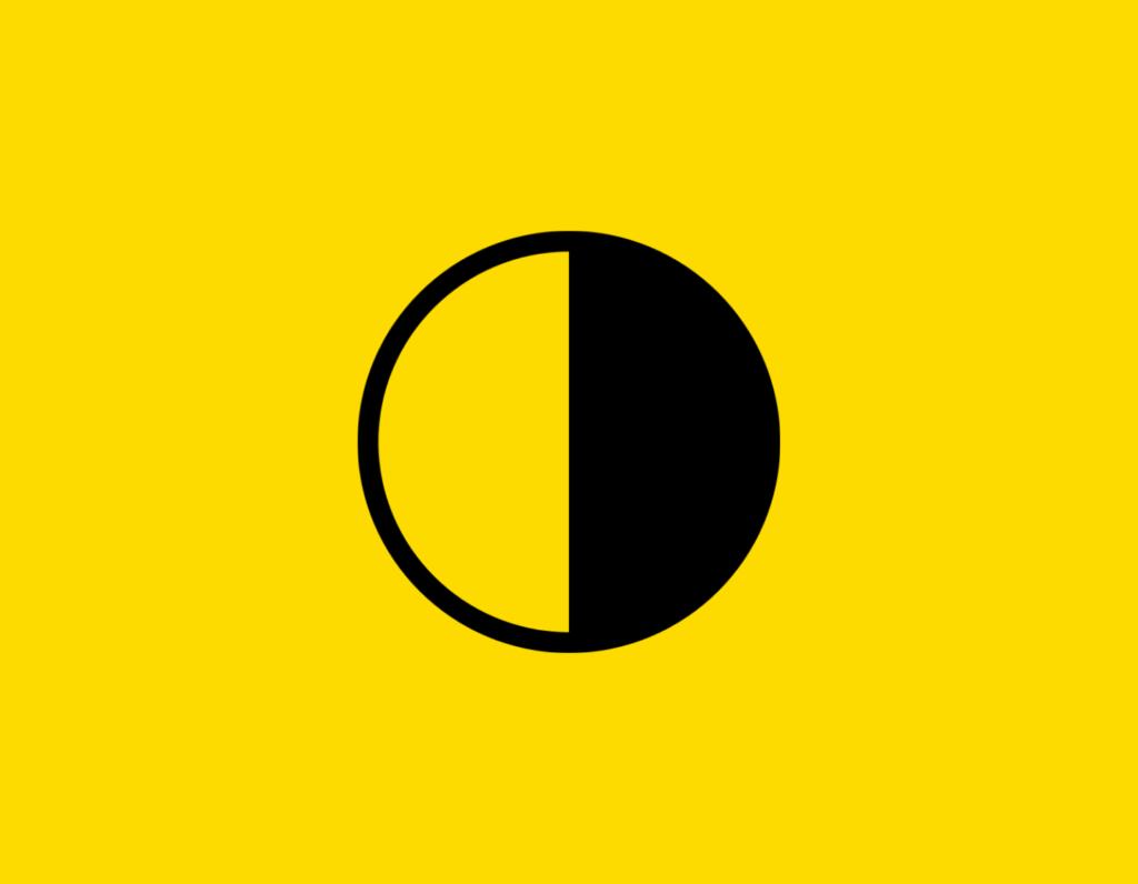 Դօրիանի «Կես բերան» բանաստեղծությունը։ Black circle on a yellow background.
