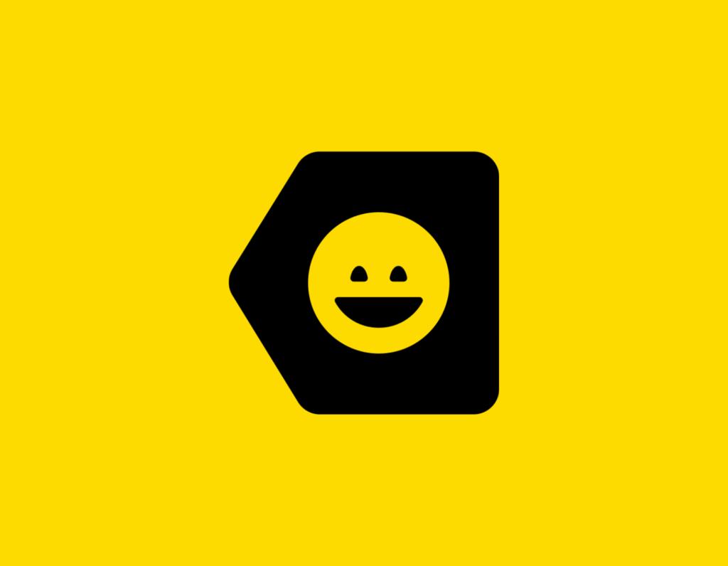 Դօրիանի «Թող երեսդ ինձ» բանաստեղծությունը։ Black smile on a yellow background.