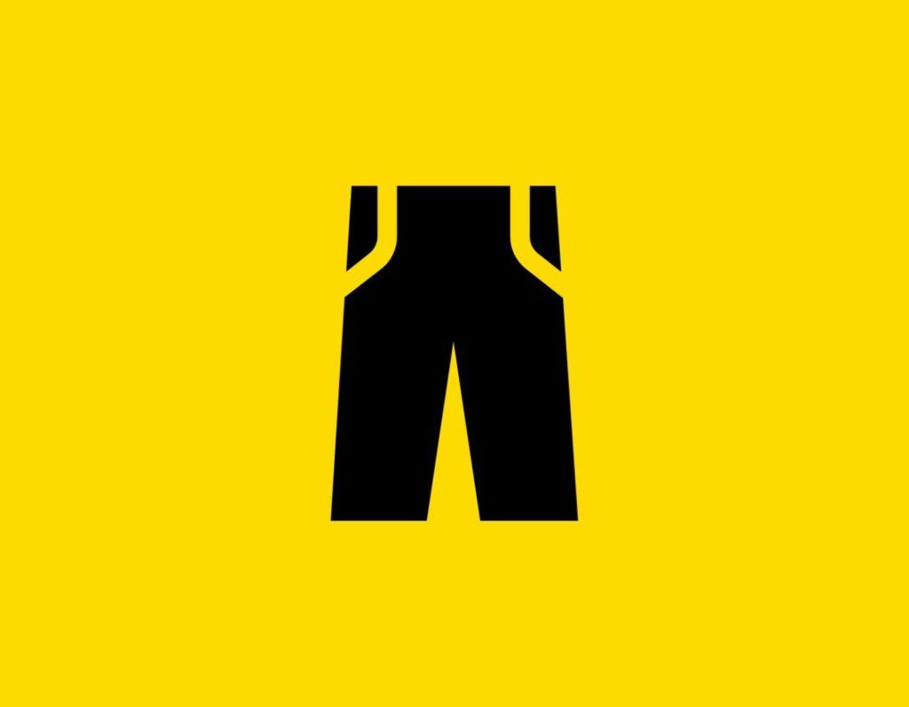 Դօրիանի «Երեկոներ շալվարիս պես» բանաստեղծությունը։ Black paints on a yellow background.