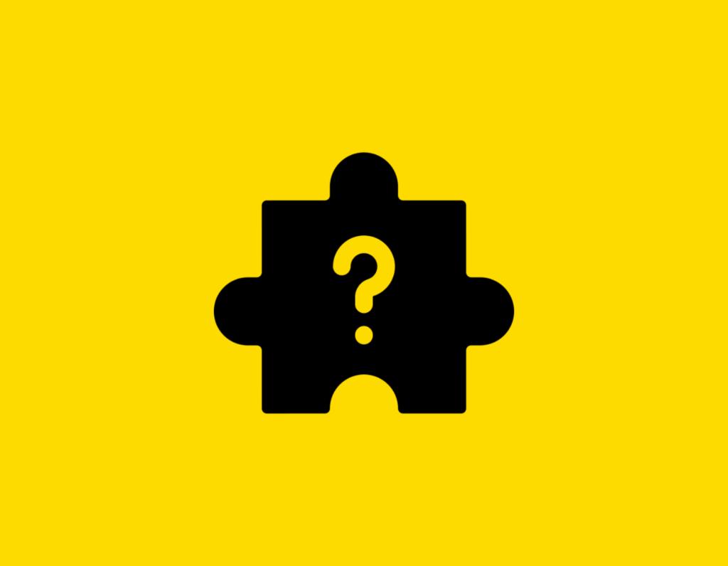 Դօրիանի «Ես, գիտե՞ս, գիտեմ» բանաստեղծությունը։ Black question mark pazzle on a yellow background.