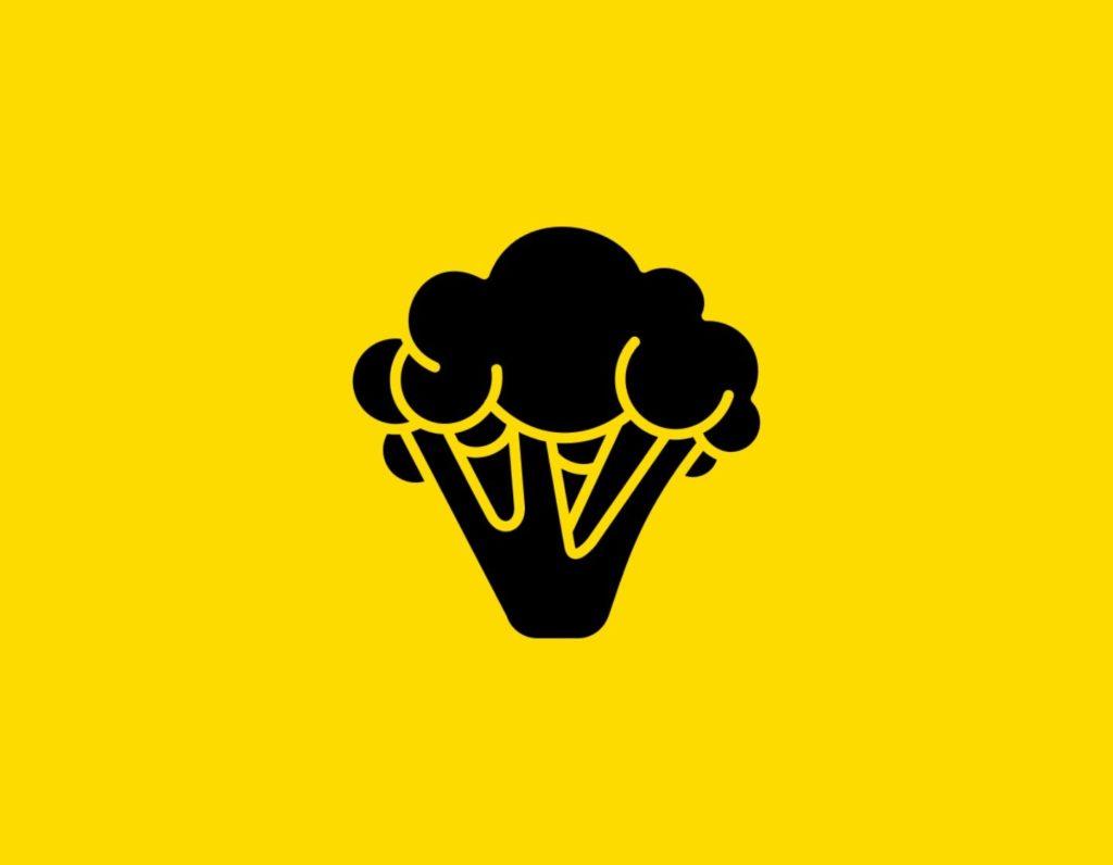 Դօրիանի «Ինչ երջանկություն» բանաստեղծությունը։ Black broccoli on a yellow background.